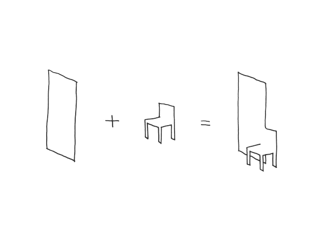 Superbe Mirror Chair_sketch ...