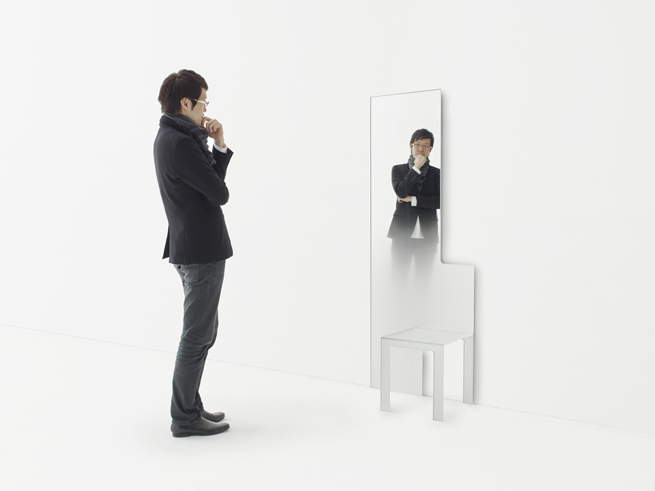 Mirror chair nendo for Mirror image