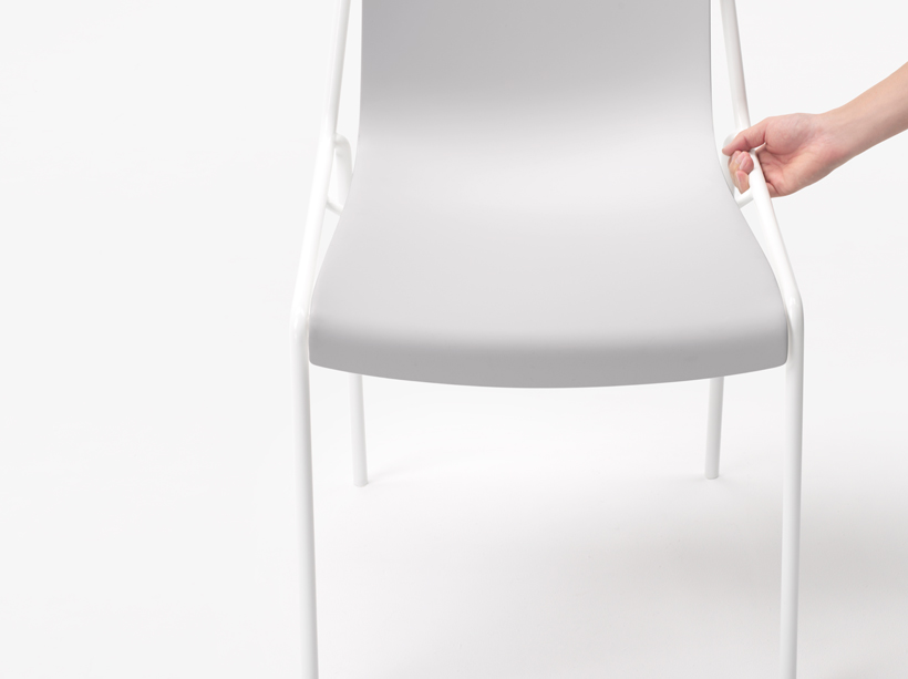 offset frame chair | nendo